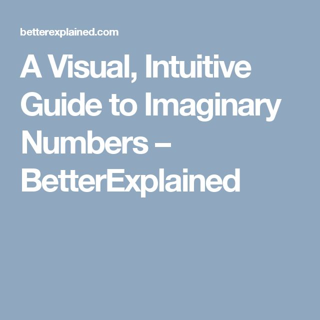 A Visual, Intuitive Guide to Imaginary Numbers – BetterExplained
