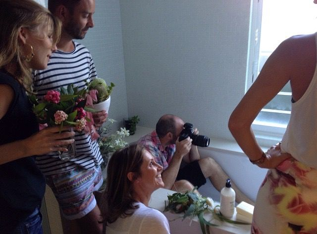 Bondi Wash photoshoot behind the scenes