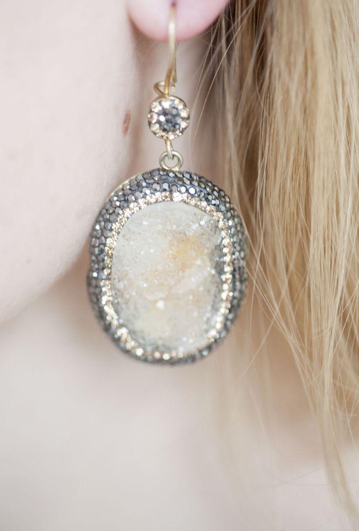Precious citrine earring