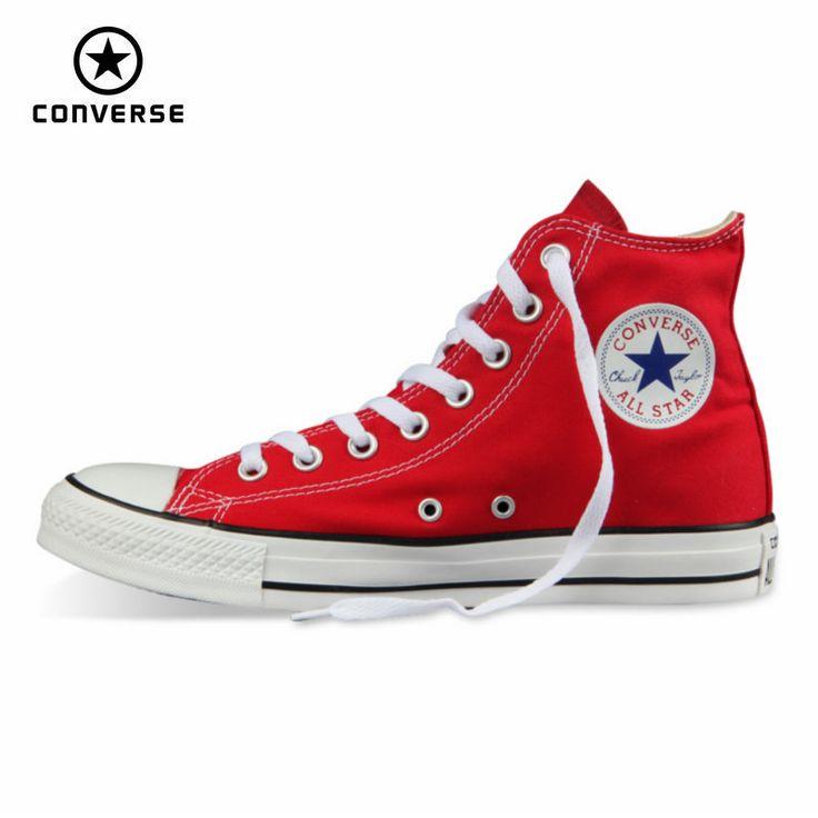Original Converse all star zapatos hombres y mujeres zapatos zapatillas de lona de los hombres de las mujeres de alta Zapatos de Skate clásico envío libre