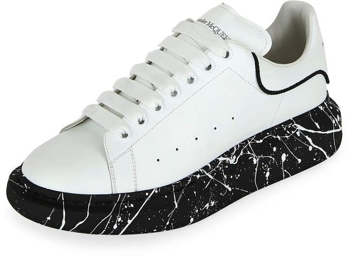 Larry Marbled-Sole Trainer Sneakers