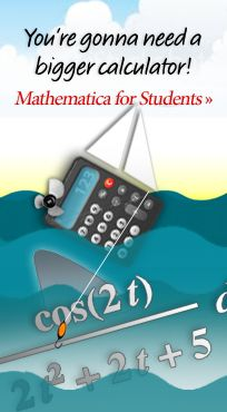 You're gonna need a bigger calculator! Mathematica for Students