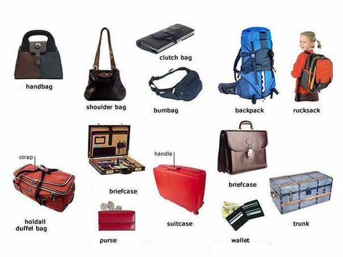 Types Of Bags For Men And Also The Names Some Parts A Bag Gift Dad Him Pinterest English Vocabulary Learn