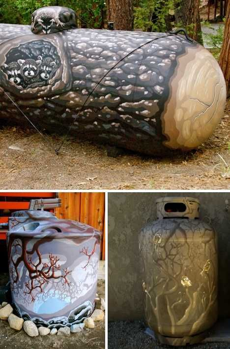 Grill Gas Flash: 15 Prettily Painted Propane Tanks | WebUrbanist