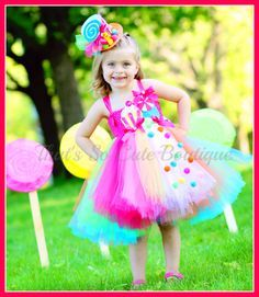 Sugar Rush Candy Tutu Dress- Perfect for a Candy Land Themed Birthday Party or Pageant