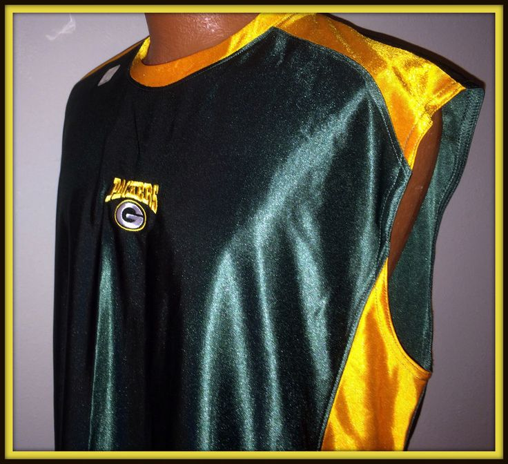 GREEN BAY PACKERS NFL TEAM APPAREL SLEEVELESS ADULT LARGE EMBROIDERED JERSEY #NFLTeamApparel #GreenBayPackers