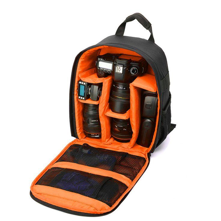 nice Video Photo Digital Camera Shoulders Padded Backpack Bag Case Waterproof Shockproof Small Bags for Canon Nikon DSLR IP-00