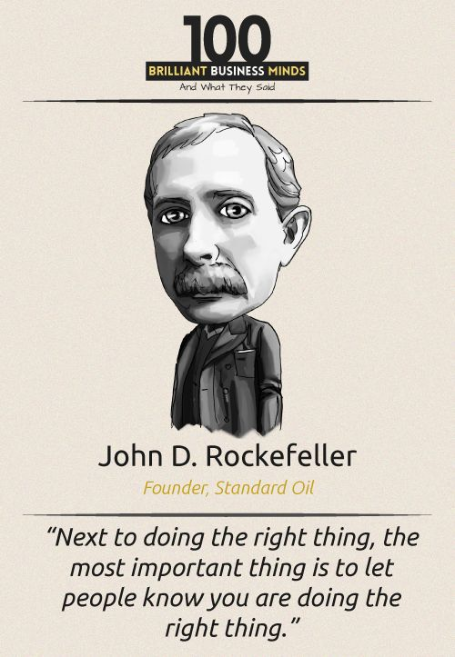 John D Rockefeller - Inspirational Quote