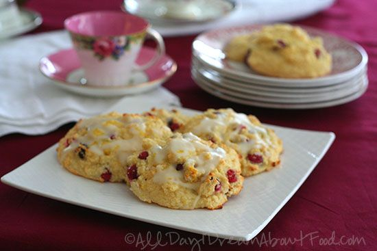 Cranberry Orange Drop Scones (low carb, keto) | All Day I Dream About Food