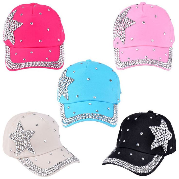 Scolour 2016 Summer Style Boy Girls Rhinestone Star Shaped Baseball Caps Casual Cap Adjustable Sun Snapback Hats Free Shipping #clothing,#shoes,#jewelry,#women,#men,#hats,#watches,#belts,#fashion,#style