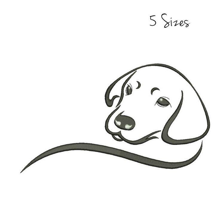 Labrador Embroidery Machine Designs animal pattern digital instant head outline design t-shirt towel dog designs hoop file 0 by SvgEmbroideryDesign on Etsy
