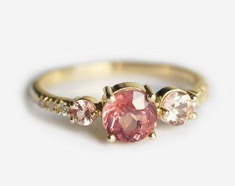 Türkis und Diamant-Verlobungsring ovalen Türkis Ring von MinimalVS