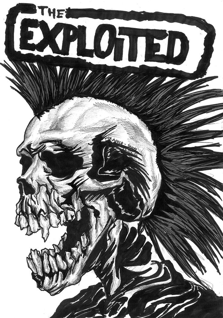 The Exploited by SassySas-777 on deviantART I'm not the biggest Exploited fan by any means, but Sex n Violence will always be one of my favorite songs n love in infamy n keep this band from being forgotten.