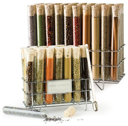 contemporary food containers and storage by Dean & DeLucaIdeas, Food, Dean O'Gorman, Kitchens Accessories, Deluca Spices, Spices Racks, Test Tube, Spice Racks, Tube Spices
