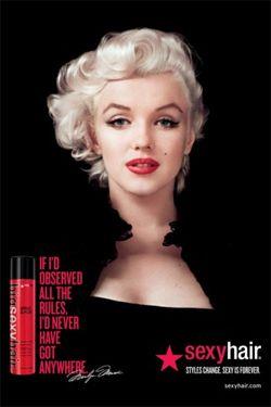 #SexyHair Marilyn Monroe. Marilyn Monroe is het nieuwe gezicht van SexyHair - Poster 3