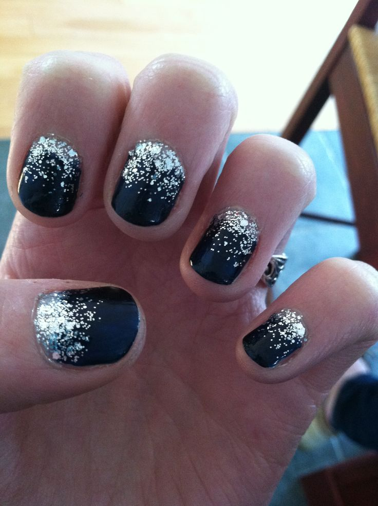 Starry night nails! Prom nails