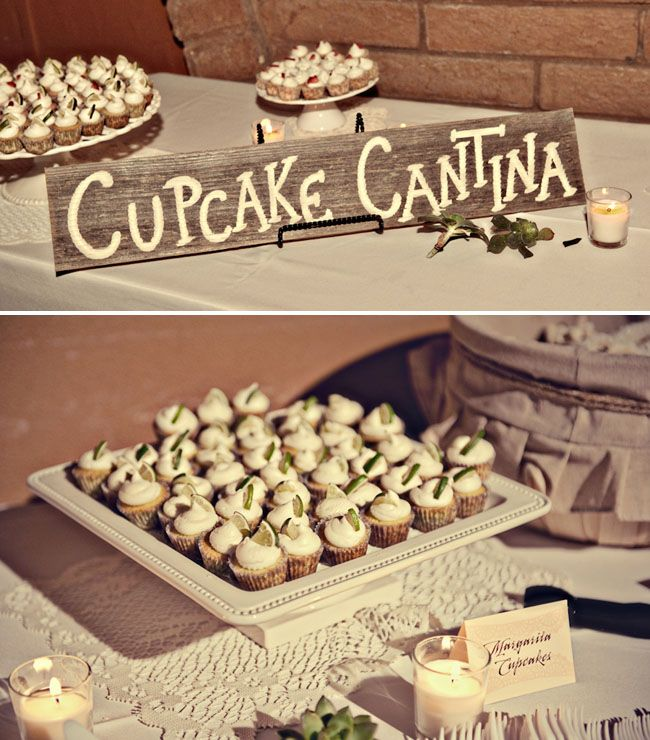 Cupcake Cantina -- great name for your cupcake bar at the wedding reception. Especially if you are doing a destination wedding!