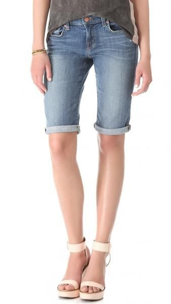 Джинсовые удлиненные шорты