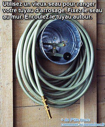 L'Astuce de Génie Pour Ne Plus Emmêler Votre Tuyau d'Arrosage.