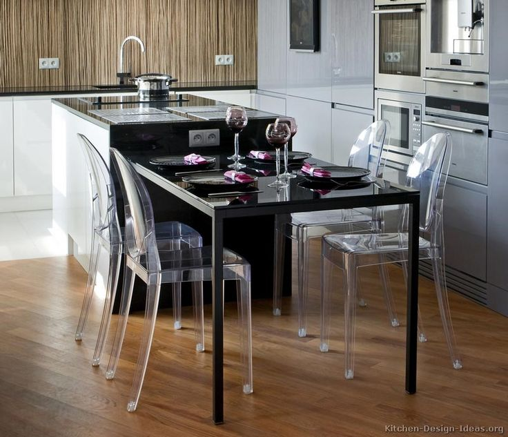 Brilliant Kitchen Island Table With Chairs Black In Decor
