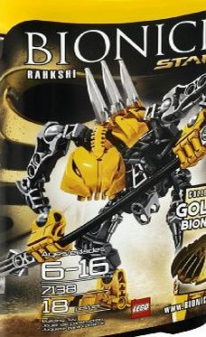 LEGO  Bionicle Stars Rahkshi 7138 Colect all 6 to build the Golden Bionicle! 18 pieces (Barcode EAN = 0673419130387). http://www.comparestoreprices.co.uk/bionicle-games/lego-bionicle-stars-rahkshi-7138.asp
