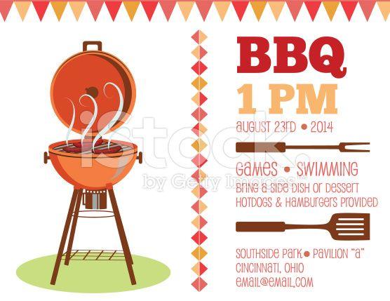 Retro BBQ Invitation Template Royalty-free Stock Vector