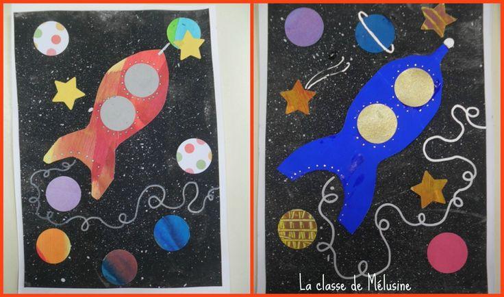 Cartes fusée Collage