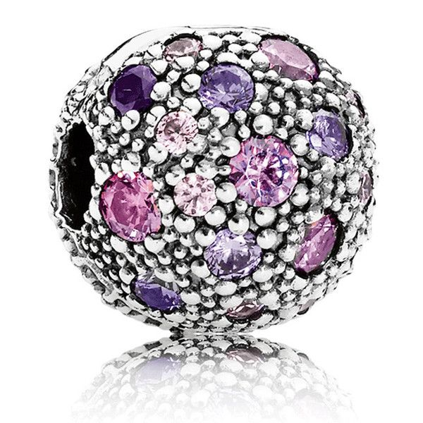 """Picture of Pandora """"Cosmic Stars"""" with Purple and Multi-colored CZ Clip"""