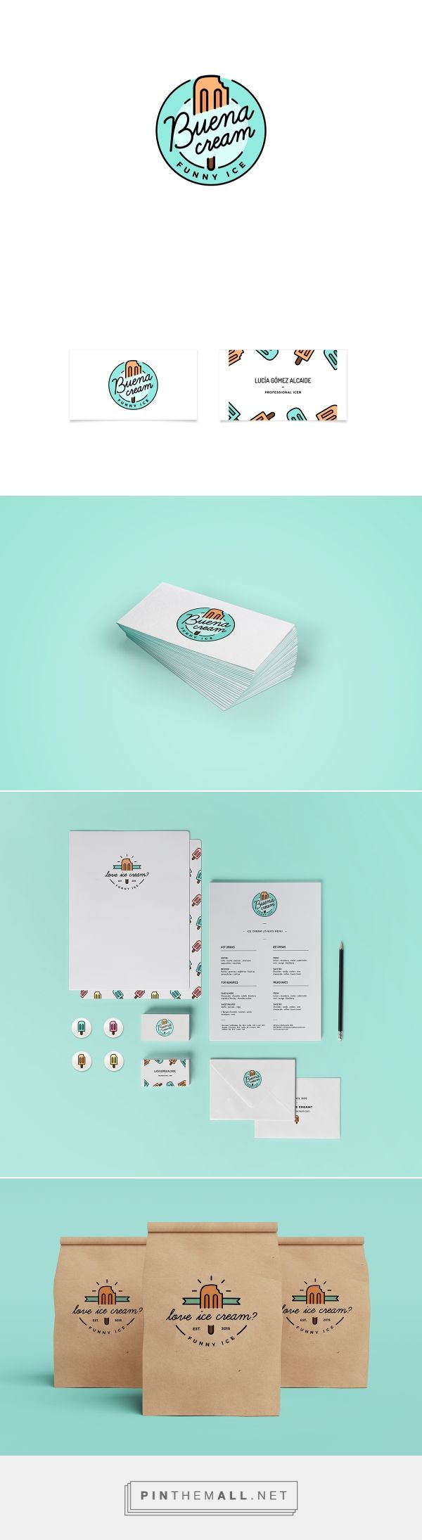 CRITIQUE // Buena Cream Ice Cream Shop Branding by Lucia Gomez | Fivestar Branding Agency