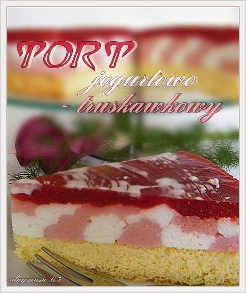 Клубничный йогурт торт