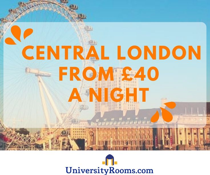Central London b&b style accommodation from £40 a night