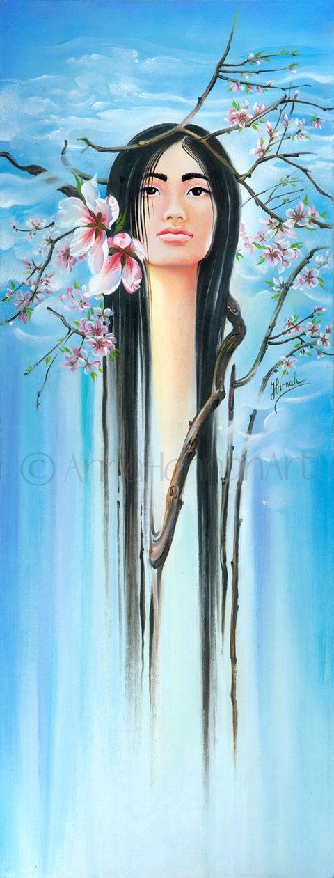 "Japanese Spring"" - oil painting by Anna Miarczynska"