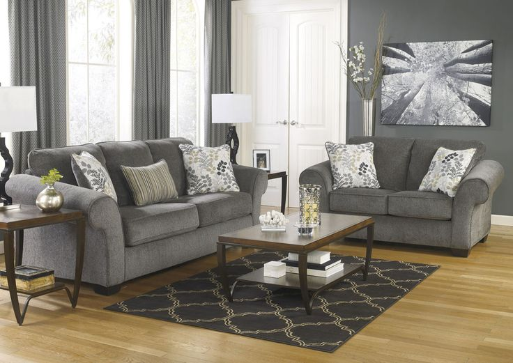 Furniture Outlet Chicago, LLC | Chicago, IL Makonnen Charcoal Sofa & Loveseat