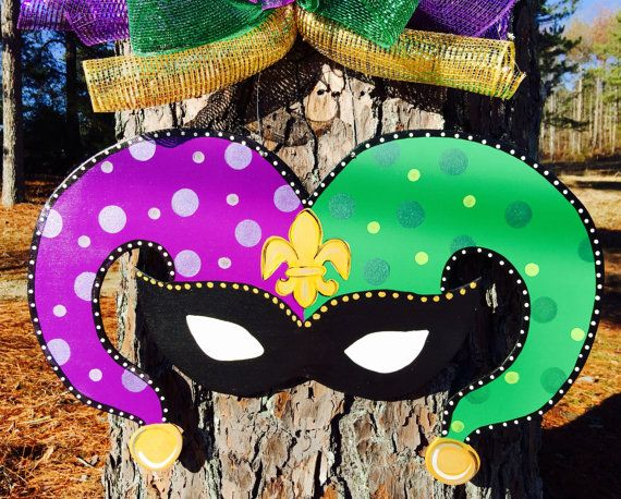 Mardi Gras door hangerReady to shipMardi by Furnitureflipalabama