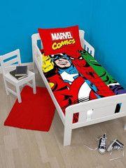 MARVEL COMICS ~ 'Clash' Toddler/Cot Bed Quilt Set