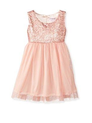 51% OFF Mini Treasure Kids Girl's Ellay May Sequins Dress (Pink)