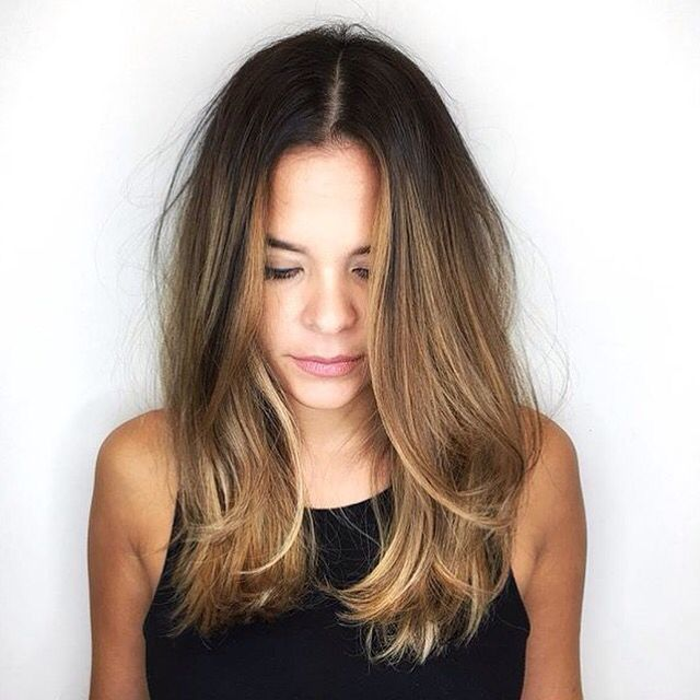 Fall 2016, balayage, hair colors, brown, brunette, blond, Ombré, and hair goals                                                                                                                                                                                 More