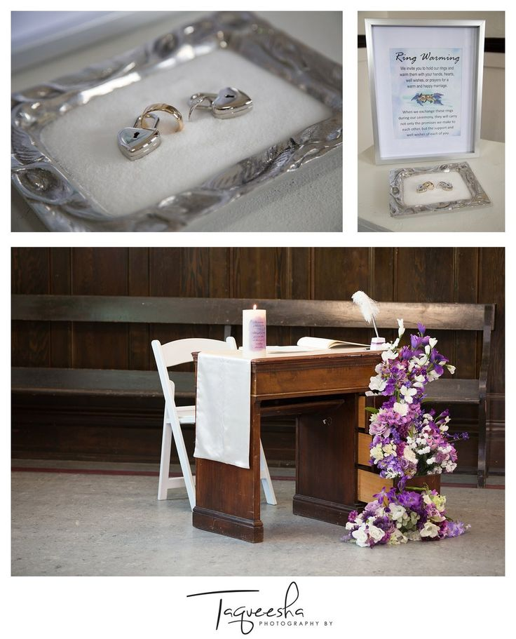 Kamloops wedding photographer, Photography by Taqueesha. Ring warming ceremony, purple wedding details.