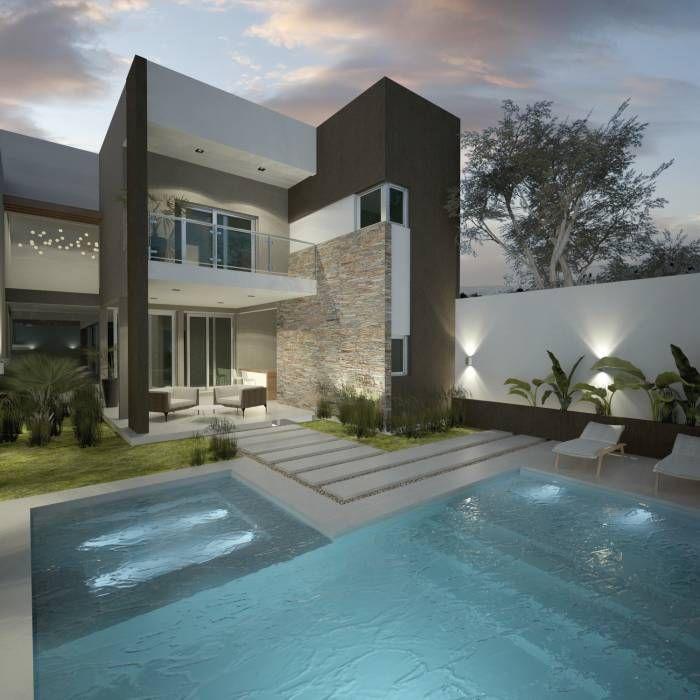 25 best ideas about viviendas modernas on pinterest for Piscinas modernas minimalistas