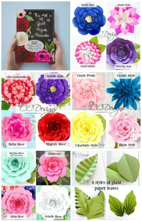 The Art of Giant Paper Flowers Book. DIY Paper Flower Templates. Wedding Backdrop. Flower Wall. Party Decor. Paper Leaves.