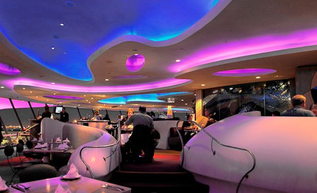 Encounter interior design inspirited by tomorrowland. The additional colours add more off a sci-fi look