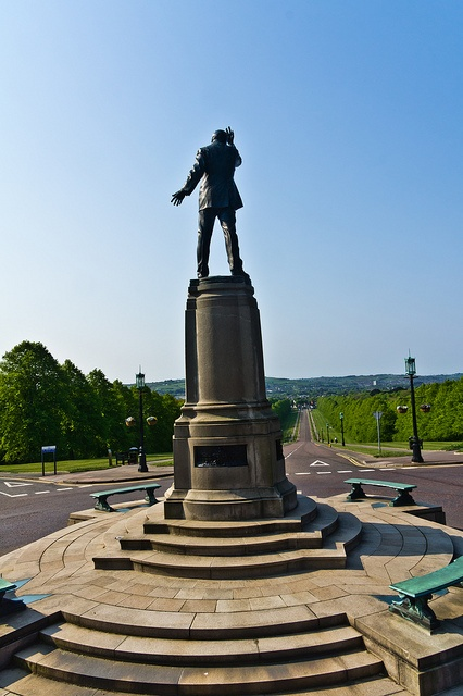 """The Parliament Buildings, known as Stormont because of its location in the Stormont area of Belfast, is the seat of the Northern Ireland Assembly and the Northern Ireland Executive. It previously housed the old Parliament of Northern Ireland, which was commonly referred to simply as """"Stormont"""".    On the drive leading up to the building There is statue to Edward Carson in dramatic pose. Erected in 1932 it is a rare example of a statue to a person being erected before their death"""