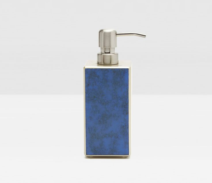 Pigeon & Poodle Reims Soap Pump in Blue Jewel Glass from The Well Appointed House