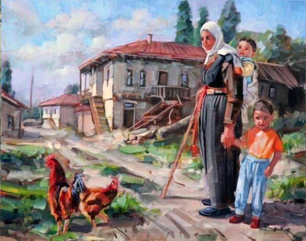 Ressam Bekir Üstün, Anadolu Kadını ve Köy