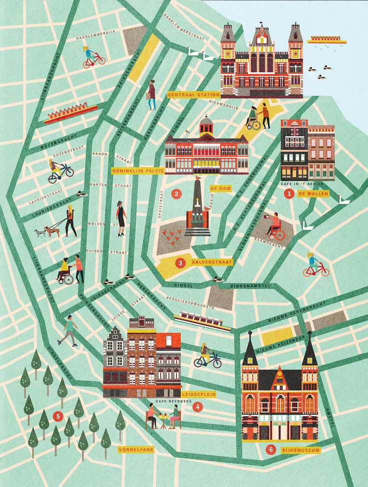 Map of Amsterdam for Beleef Magazine on Behance