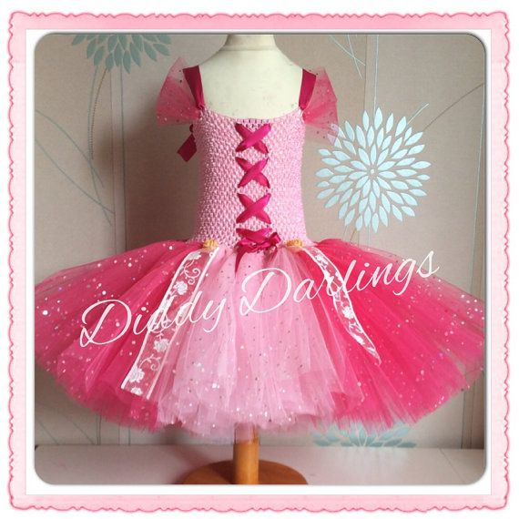 Sparkly Pink Tutu Dress. Princess Dress. Rapunzel by DiddyDarlings