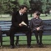 Still of Johnny Depp and Freddie Highmore in Finding Neverland