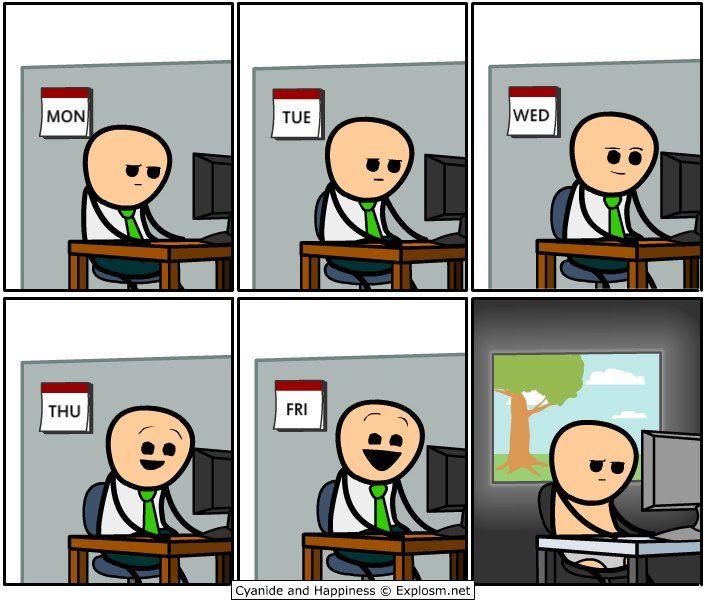 Комиксы картинки я на работе