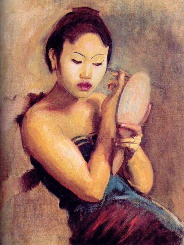 John Singer Sargent - Javanese Girl at Her Toilet, 1889