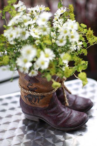 Cowboy boot centerpiece | the_orange_blossom | Flickr